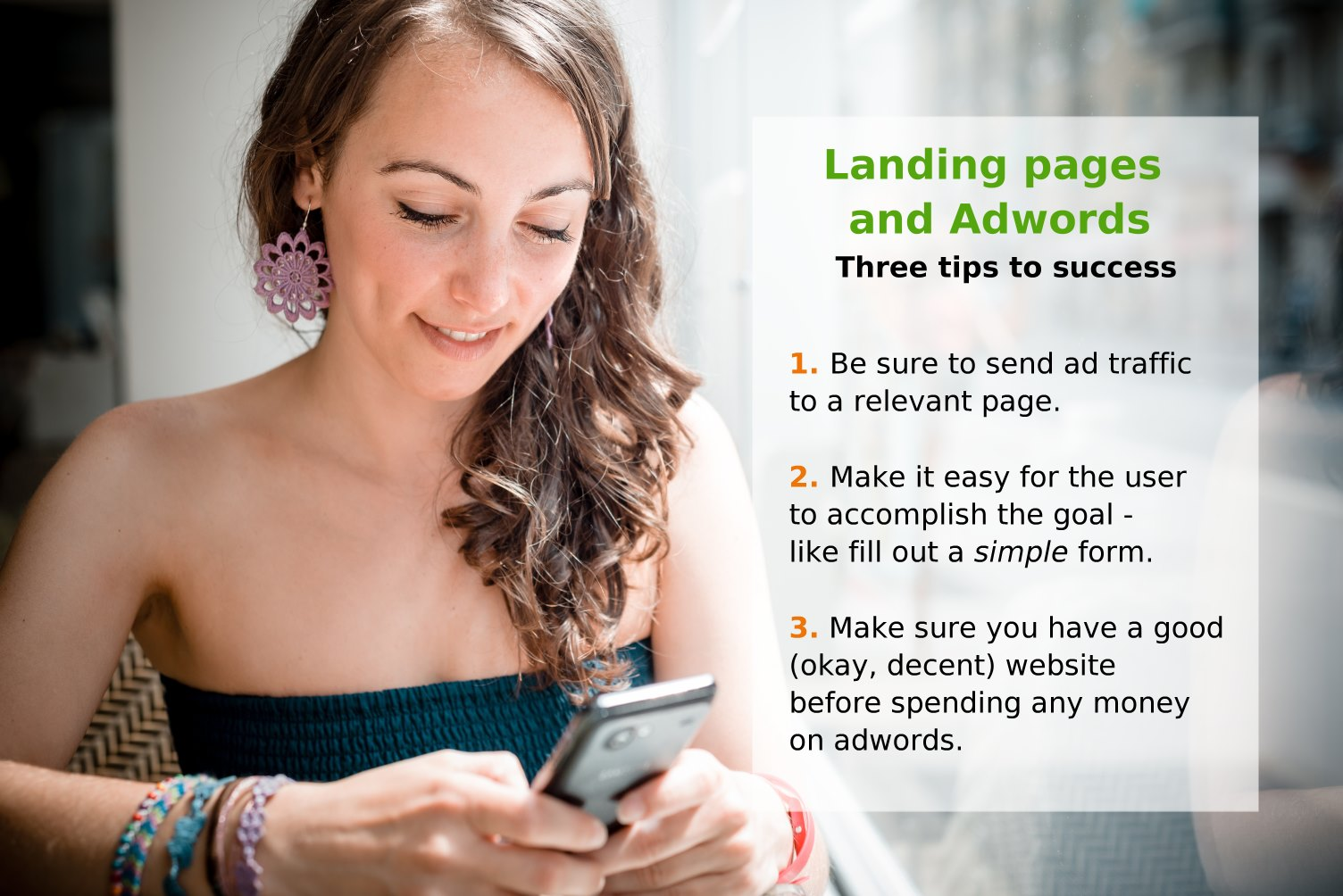 Landing pages and adwords